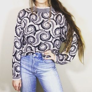 Vintage Reworked Pastel Cropped Sweater